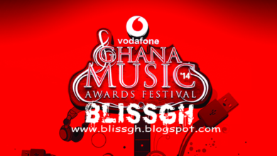 Photo of official copy of the final nomination list of the Vodafone Ghana Music Awards 2014