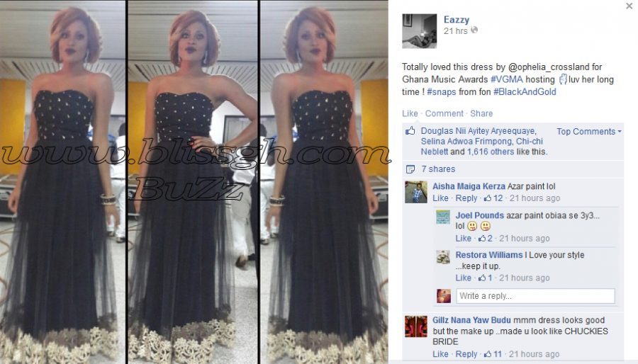 2r2m54l - Eazzy's make up sparks funny comments on facebook