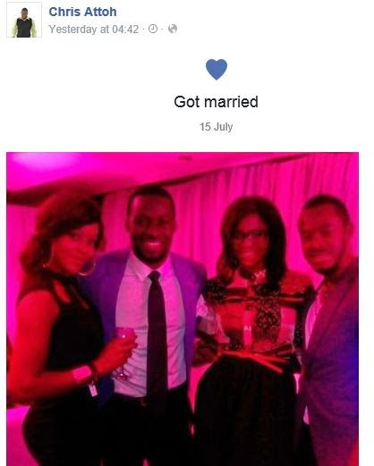 Chris Attoh Damilola Adegbite Secretly Married chris attoh facebook blissgh - Chris Attoh & Damilola Adegbite Secretly Married??