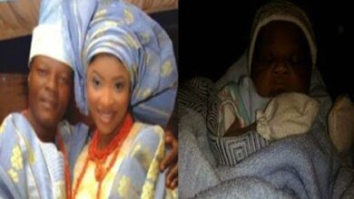 Photo of Omotola gives Birth to a bouncing Baby Boy