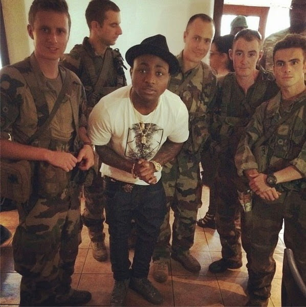 davido ebola - Davido Shares Photo With Military, Says He Is Protected From Ebola