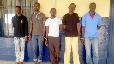 Photo of five Member armed robbery gang nabbed, Accra- Ghana