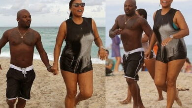 Photo of Queen Latifah spotted holding hands with a guy at the beach