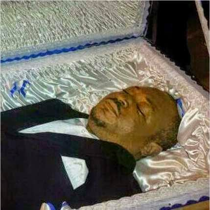 Muna lying in state 1 - Photos: Nigerian actor Muna Obiekwe laid to rest
