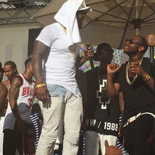 Davido 50cent - Video: Davido performs on stage with 50cent and Jeremih in Vegas