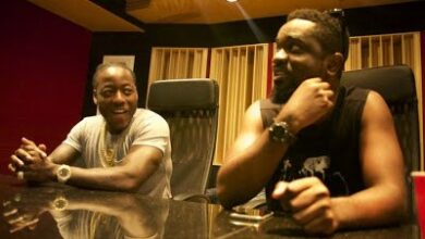 Photo of Sarkodie records with American Rapper Ace Hood