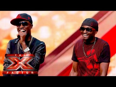"0 18 - Reggie Zippy and Bollie now ""Men on Point"" impress X Factor UK Judges 2015"