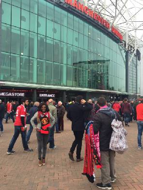 Video: Nana Aba finally spotted at Old Trafford, No Photoshop this time!