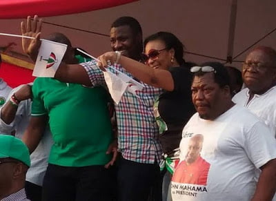"""ndcrally - Top actor John Dumelo and others spotted at NDC """"RALLY"""""""