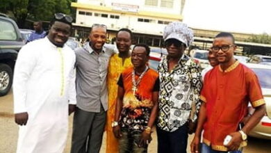 Photo of Kojo Antwi, Rex Omar, Bandex, Obour, Others Visit Amakye Dede