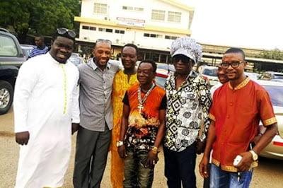 KojoAntwi2CRexOmar2CBandex2CObour2C - Kojo Antwi, Rex Omar, Bandex, Obour, Others Visit Amakye Dede