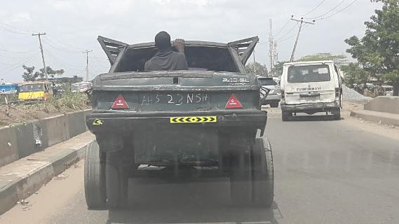 Photo of Photos: LoL 'Mad Max Fury Road' car spotted in Nigeria