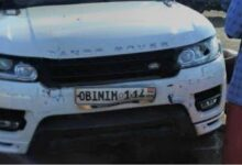 Photo of Obinim's Range Rover involved in accident