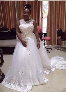 PhotosMoeshaBoduonginherWeddingGown - Photos: Moesha Boduong Rocking her Wedding Gown