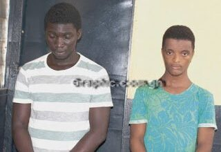 Photo of Police arrest two for gang-raping a 16-year-old JHS student