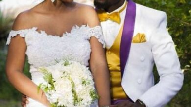 Photo of Kwaw Kese's Classy White Wedding Photos