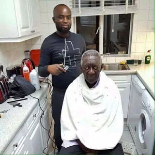 SeeWhereEx PrezKufuorGetsHisHaircut - See Where Ex-Prez Kufuor Gets His Haircut...