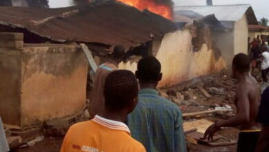 Photo of 3 Children burnt to death in Nkwanta fire