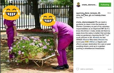 Photo of Diamond Appiah Makes Fun Of Afia Schwarzenegger's Wedding Photo