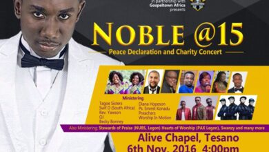 "Photo of Nobel Nketsiah Celebrates 15 years in Ministry ""Noble @ 15 Peace Declaration and Charity Concert"""