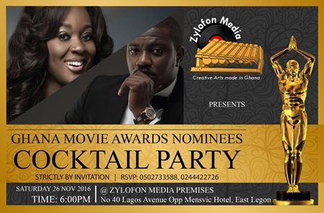 Zylofon Media To Host Ghana Movie Awards 2016 Nominees - Zylofon Media To Host Ghana Movie Awards 2016 Nominees Party+ Final List of Nominees