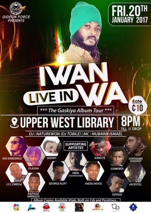 Iwan Resumes Gaskiya Album Tour Hits Upper West On January 20 - Iwan Resumes #Gaskiya Album Tour, Hits Upper West On January 20