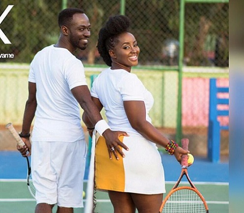Okyeame Kwame and wife - My husband loves watching buttocks of other ladies - Okyeame Kwame's Wife reveals