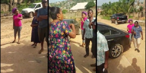 Alleged video of Joyce Blessing fighting for custody of her kids