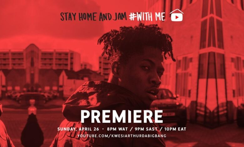 Photo of Video: Kwesi Arthur – Stay home With me (Live session)