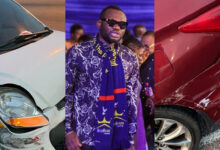 Photo of Actor Prince David Osei involved in a motor accident
